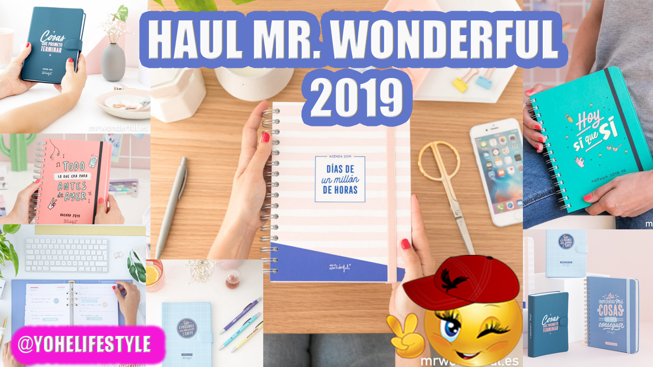 UNBOXING - HAUL MR. WONDERFUL AGENDAS 2019-2020